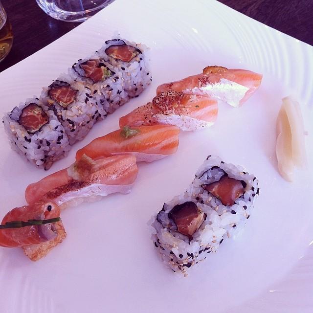 Salmon Sushi Lunch Yashin Sushi, London