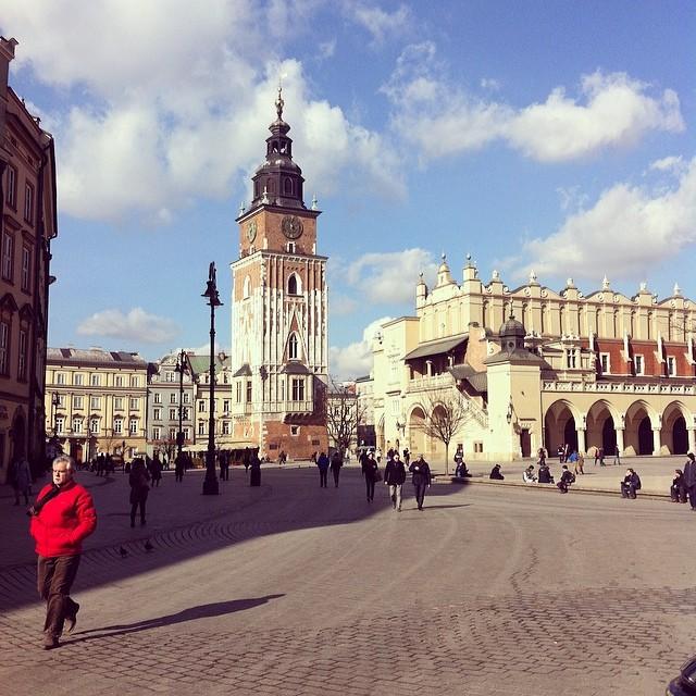 Traditional Polish Breakfast at Krakow's Main Square