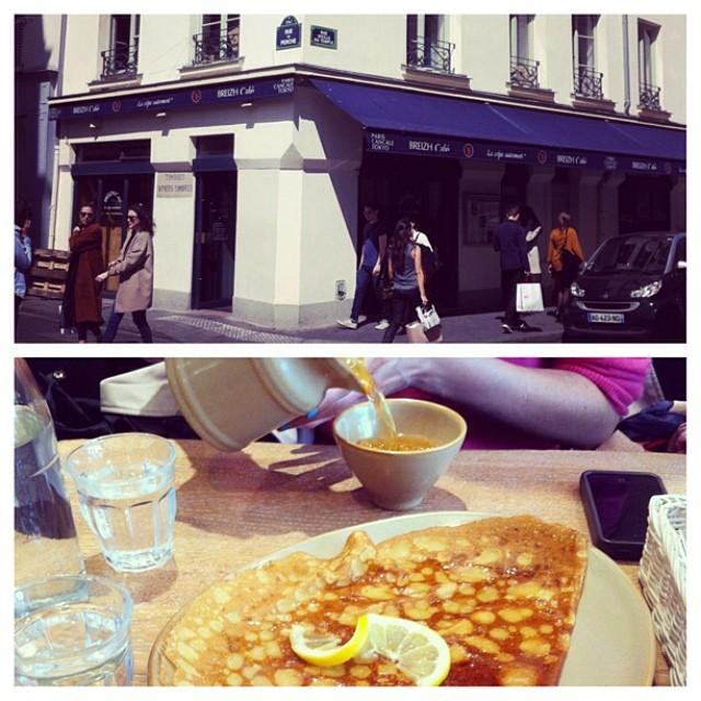 Breizh Cafe in the hip and arty area of Marais, Paris