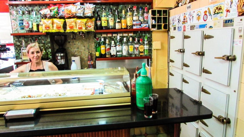 At the bar in Barcelona's best Vermouth bar: La Vermuteria del Tano Gracia Barcelona