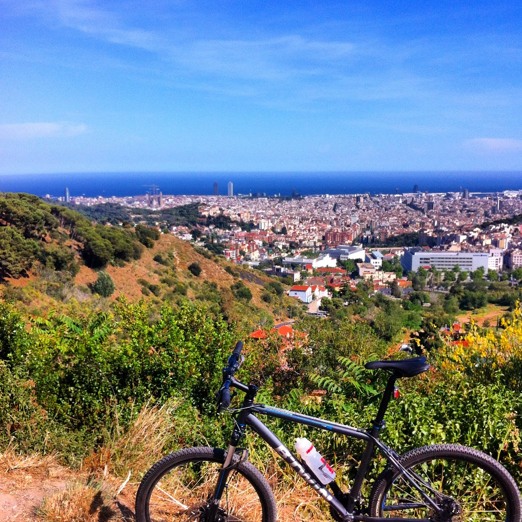 Cycling Collserola Mountains around Tibidabo, Barcelona