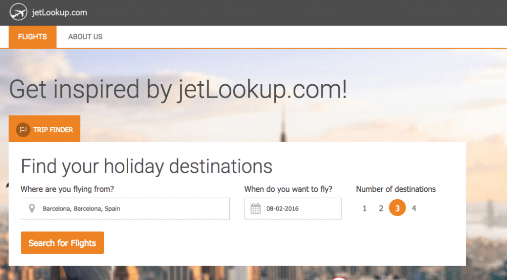 jetLookup.com - Find the cheapest possible flights based on your budget