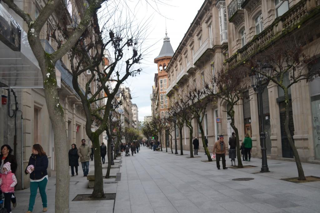 Rua do Paseo Ourense Galicia