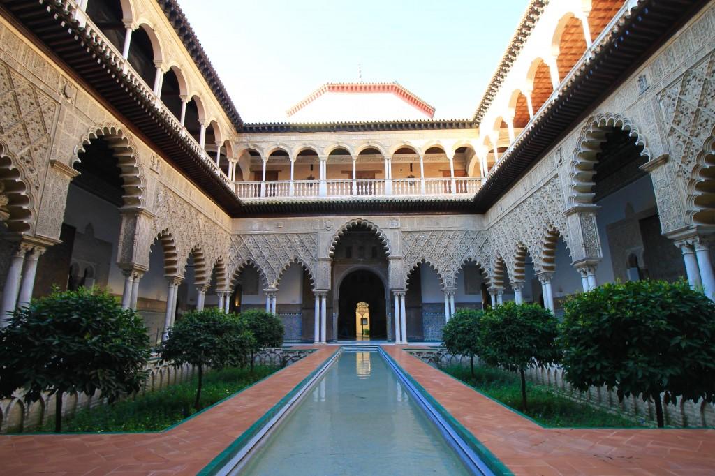Alcazar Sevilla Andalusia Southern Spain