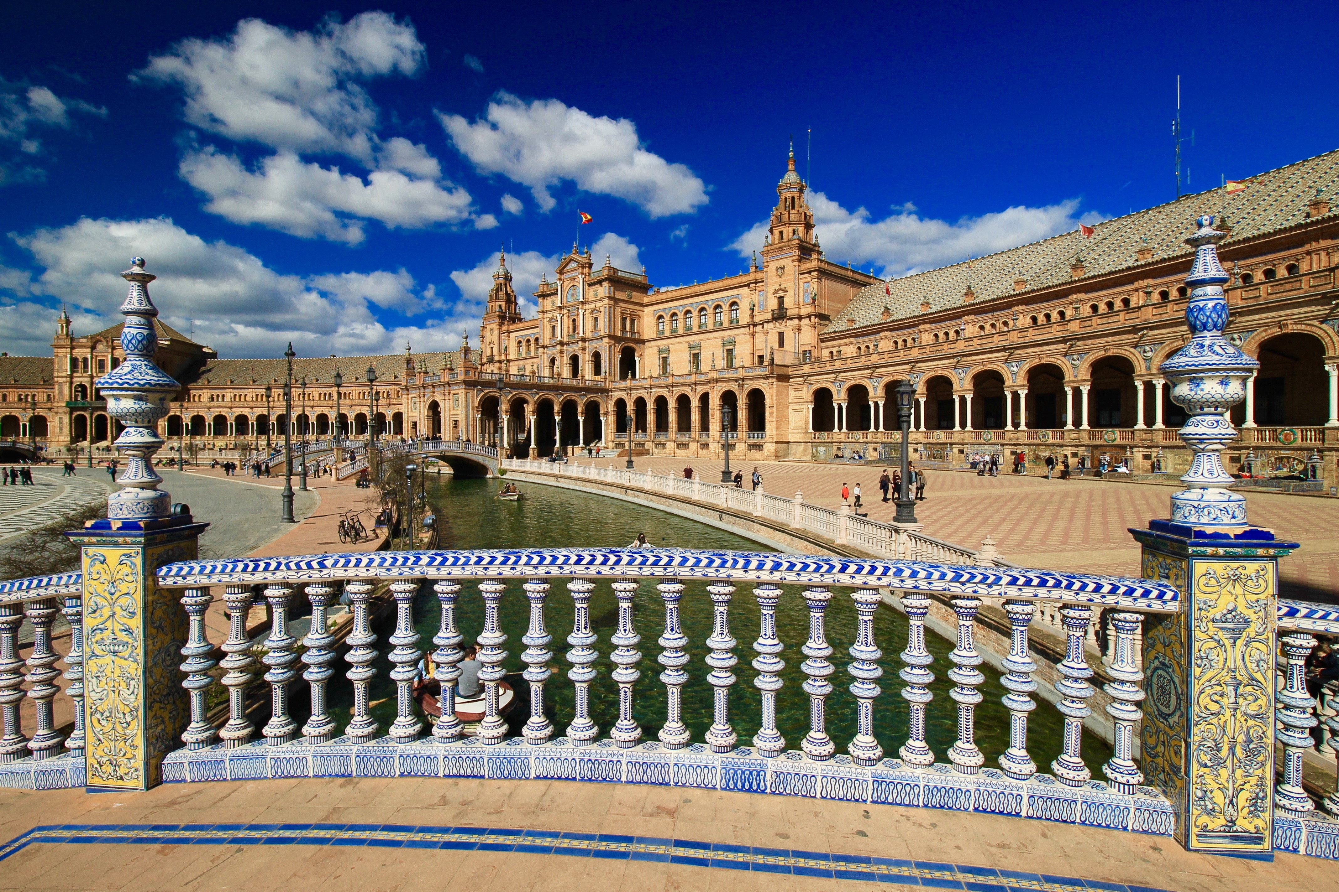 Plaza de Espana, Seville, Andalusia, Southern Spain
