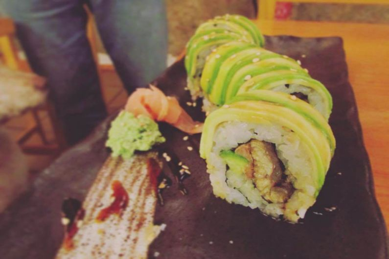 The Dragon Roll at The Tatami Room in Poblesec Barcelona