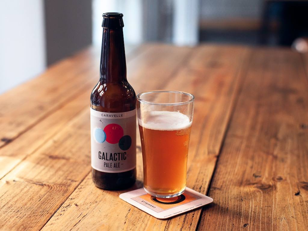 Galactic Pale Ale at Barcelona's Caravelle Restaurant and Brewery in Raval