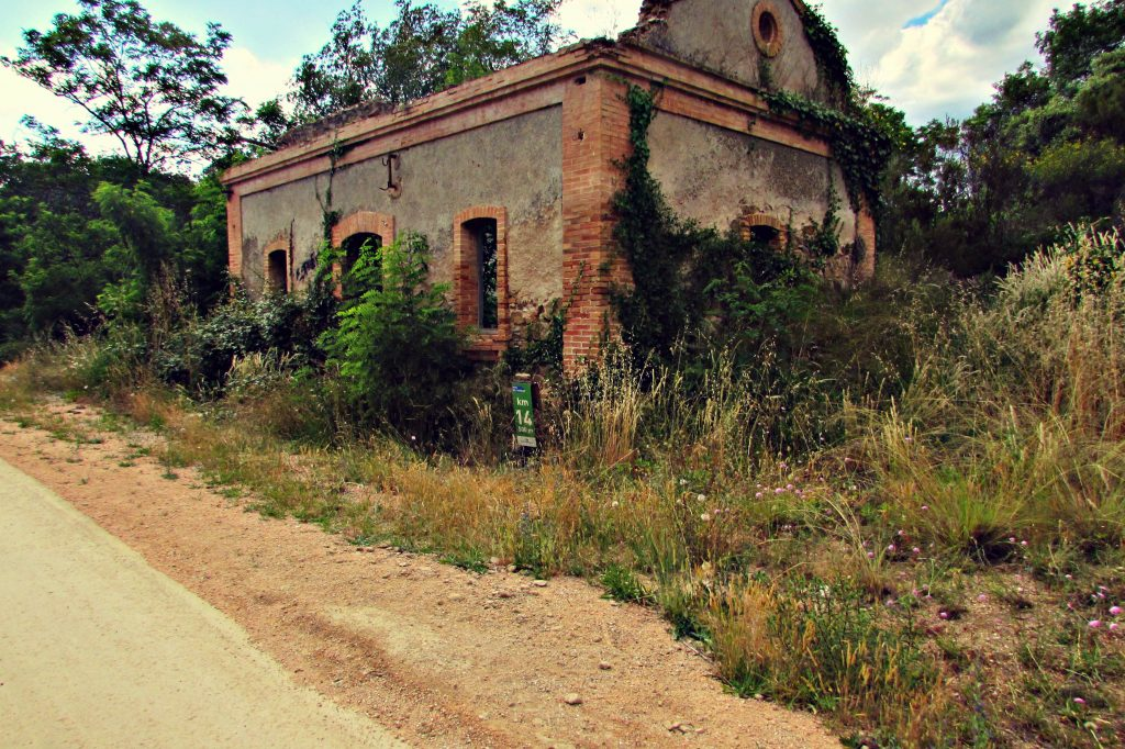 Abandoned train station along the Greenways (Vias Verdes) Cycle track in Girona, Catalunya