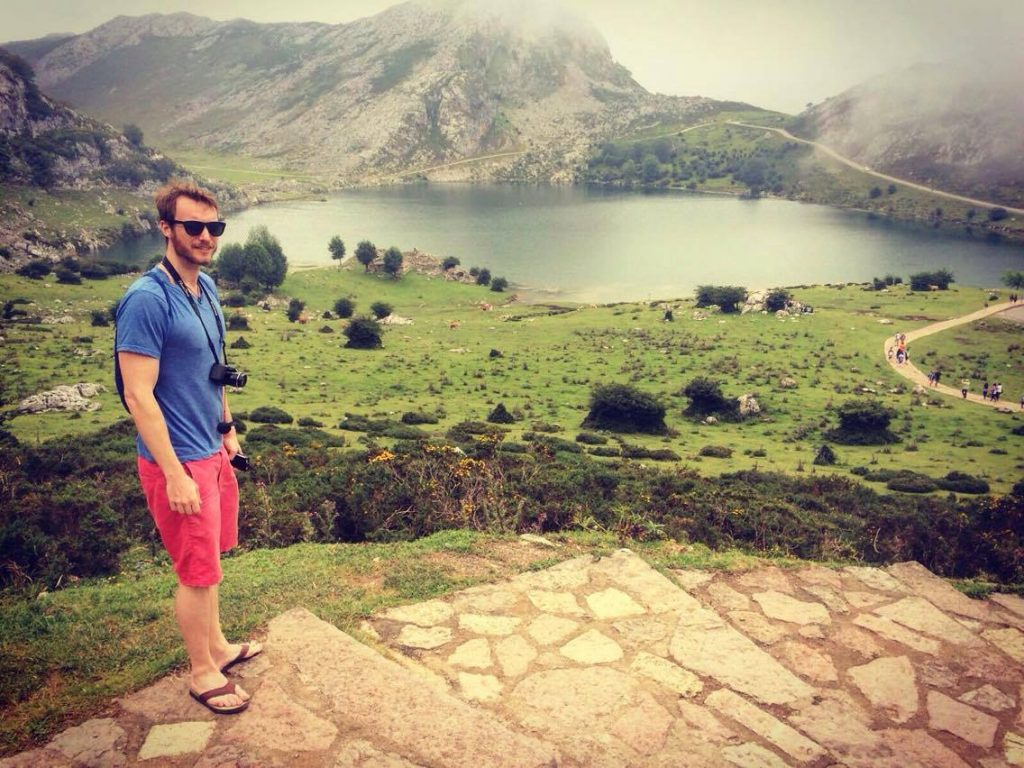 Dressed completely inappropriately for our hike to the Covadonga Lakes.