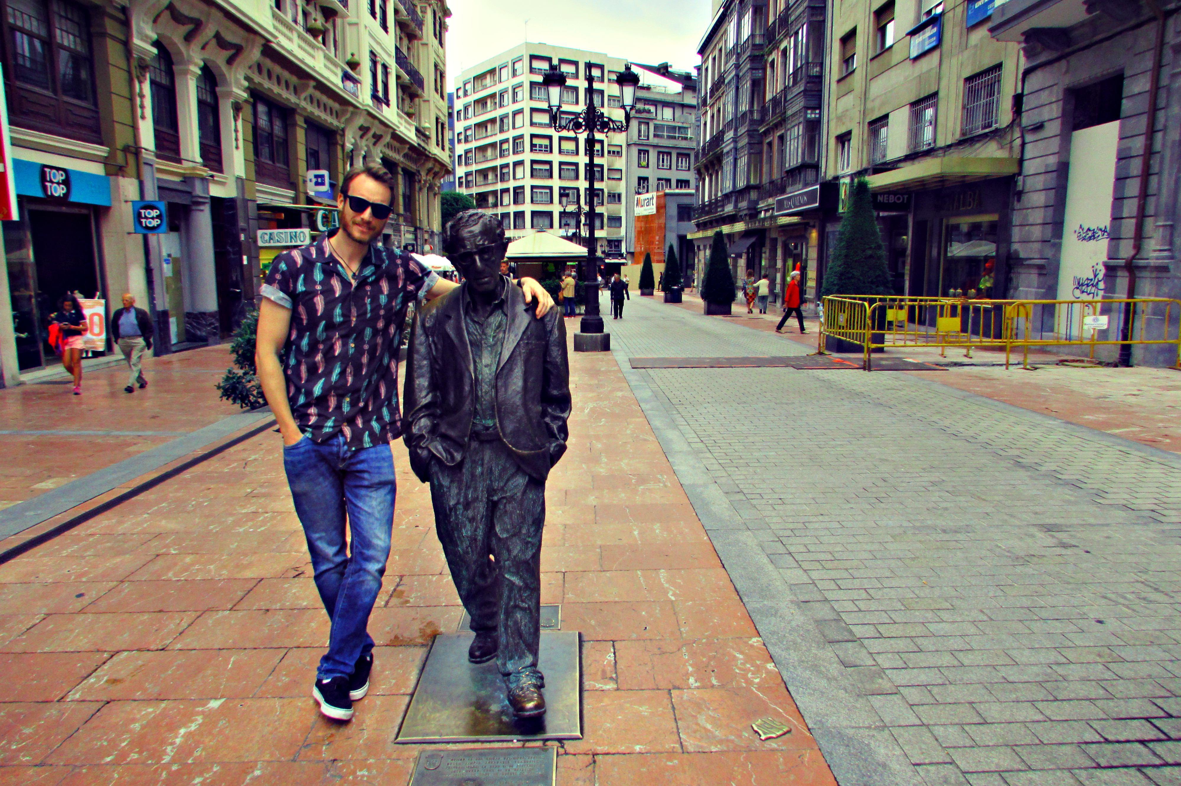 Woody Allen in Oviedo, Asturias' regal capital city.