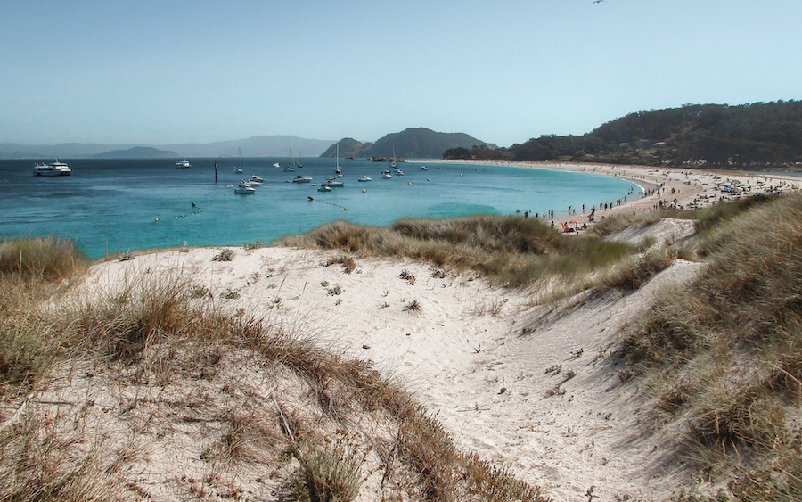 Ben Holbrook in the Cies Islands Beaches, Galicia, northern Spain