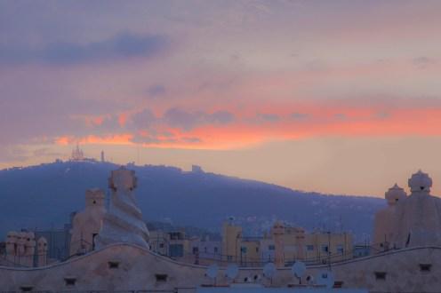Hotel Alma Rooftop Terrace and Views of Antoni Gaudi's La Pedrera