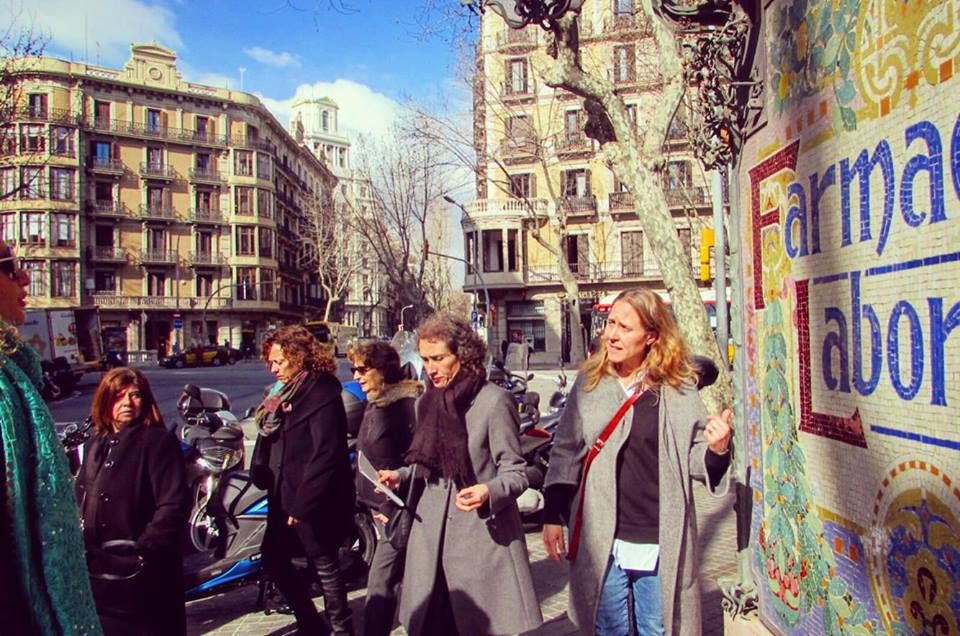 Exploring the Eixample neighbourhood - Barcelona Food Sherpa Market Tour and Home Dining Experience