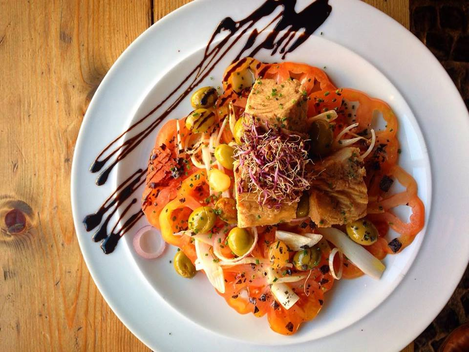 Tomatina salad at La Monroe - Ben Holbrook