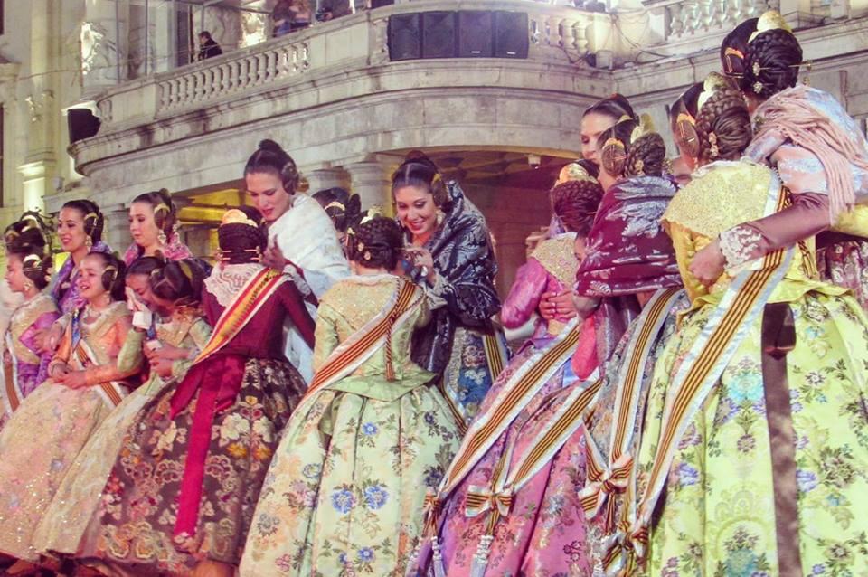 Falleras Valencia's Las Fallas festival