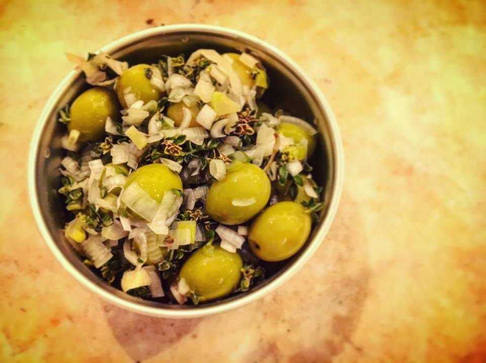 Gourmet olives at Barna-Brew, Sant Antoni, Barcelona Brewpub
