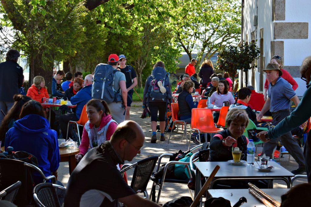 Cafe restaurants on the Camino de Santiago Galicia Spain