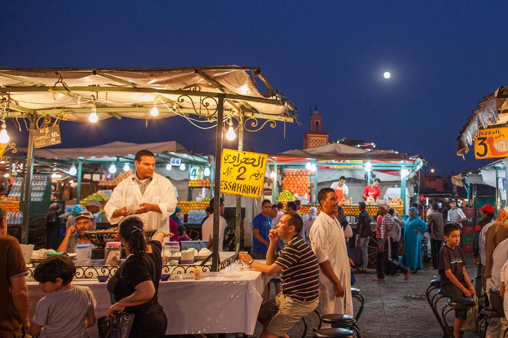 Eating in Marrakech