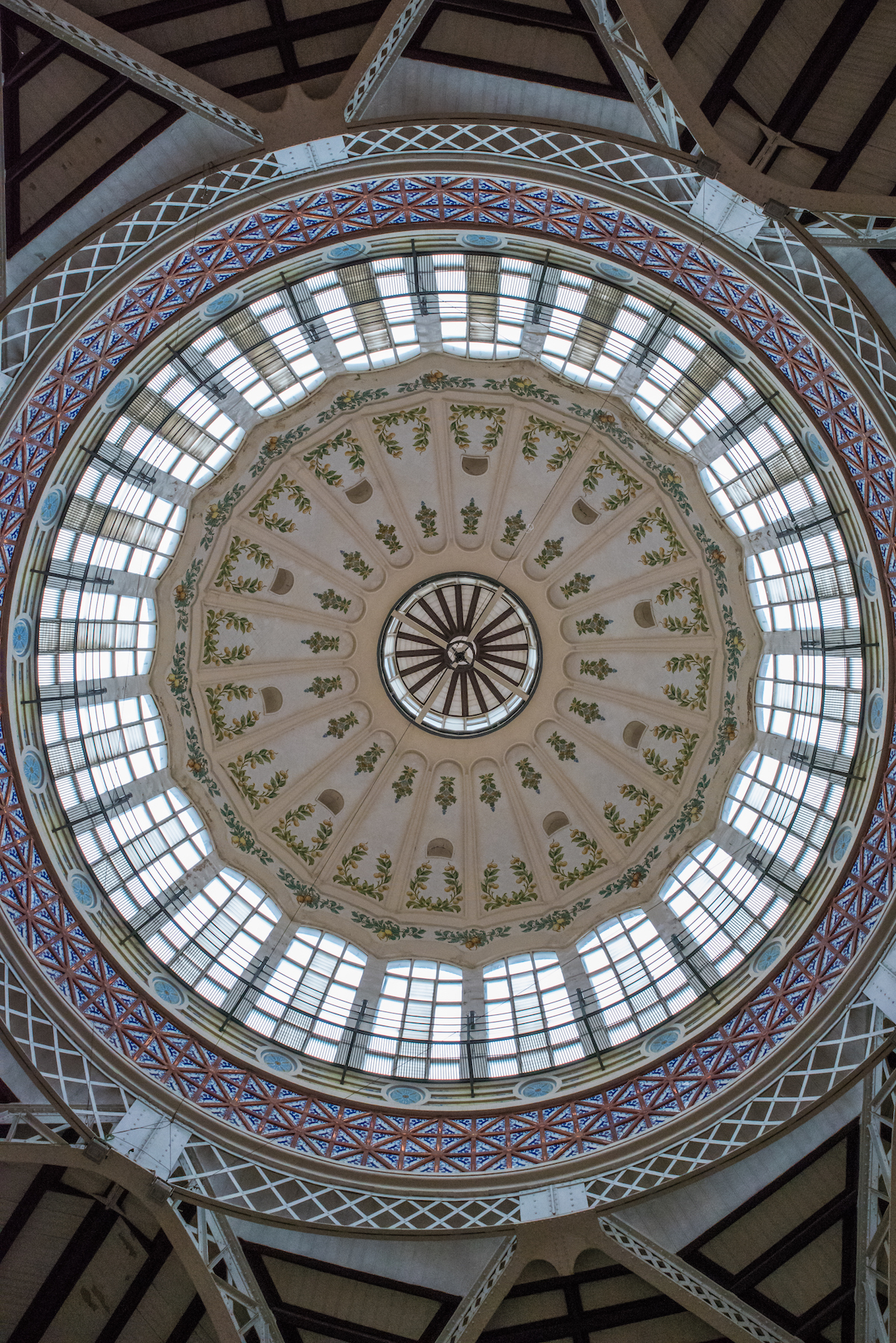 Valencia's Central Market Art Deco Dome - by Ben Holbrook