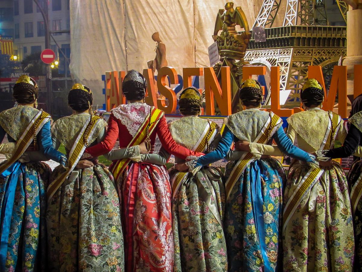 Falleras at Valencia's Las Fallas Festival ~ by Ben Holbrook