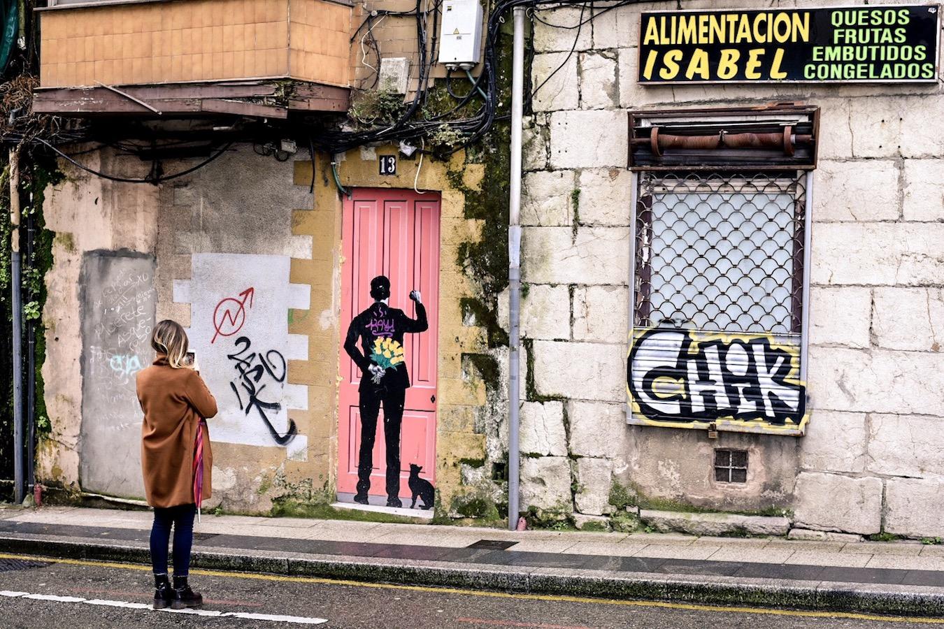 Street art in Santander, northern Spain