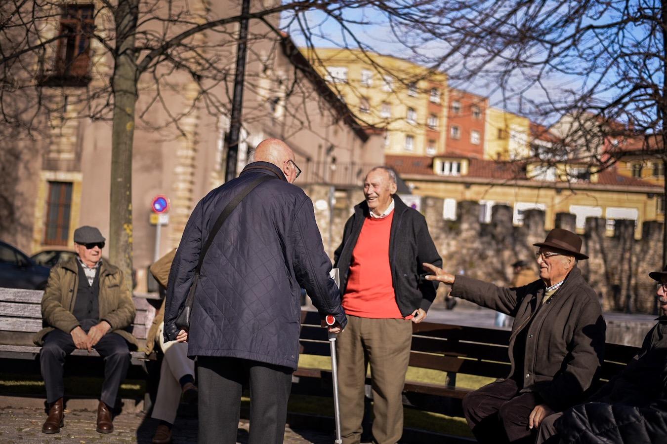 Street life in Gijon, Asturias, northern Spain