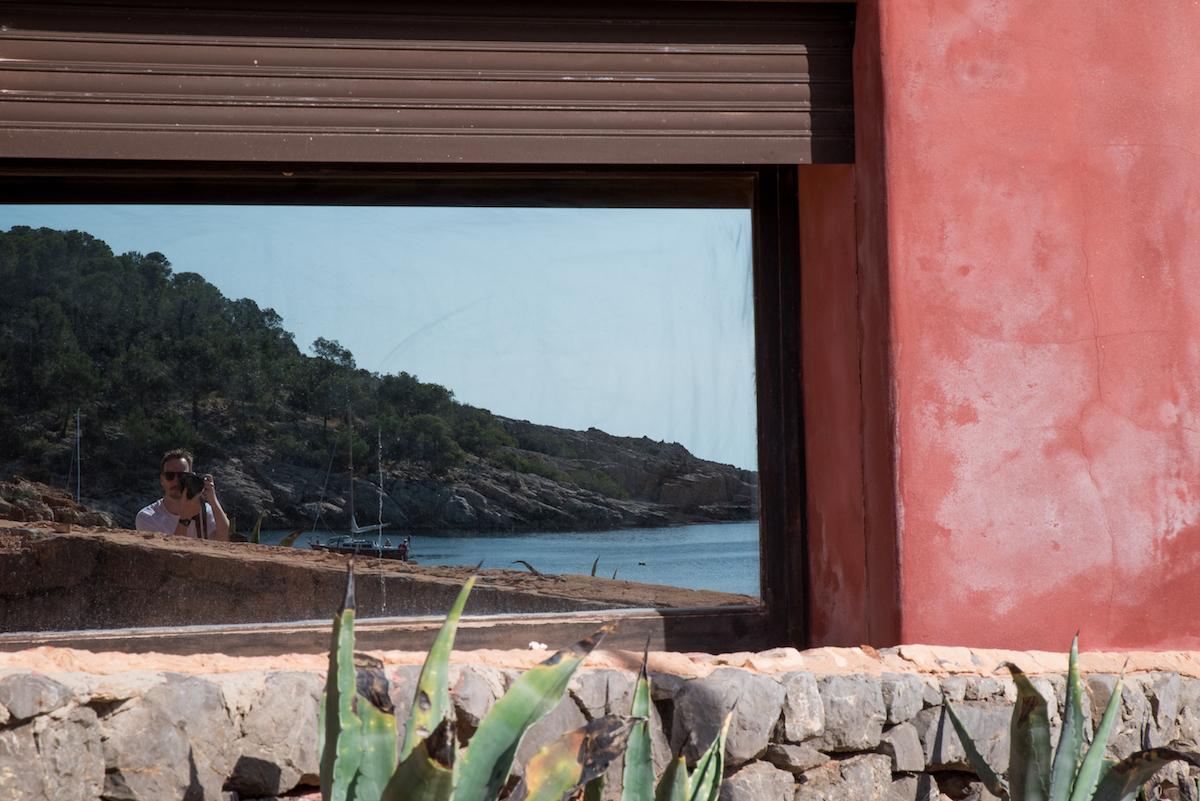 Reflections at Cala Salada.