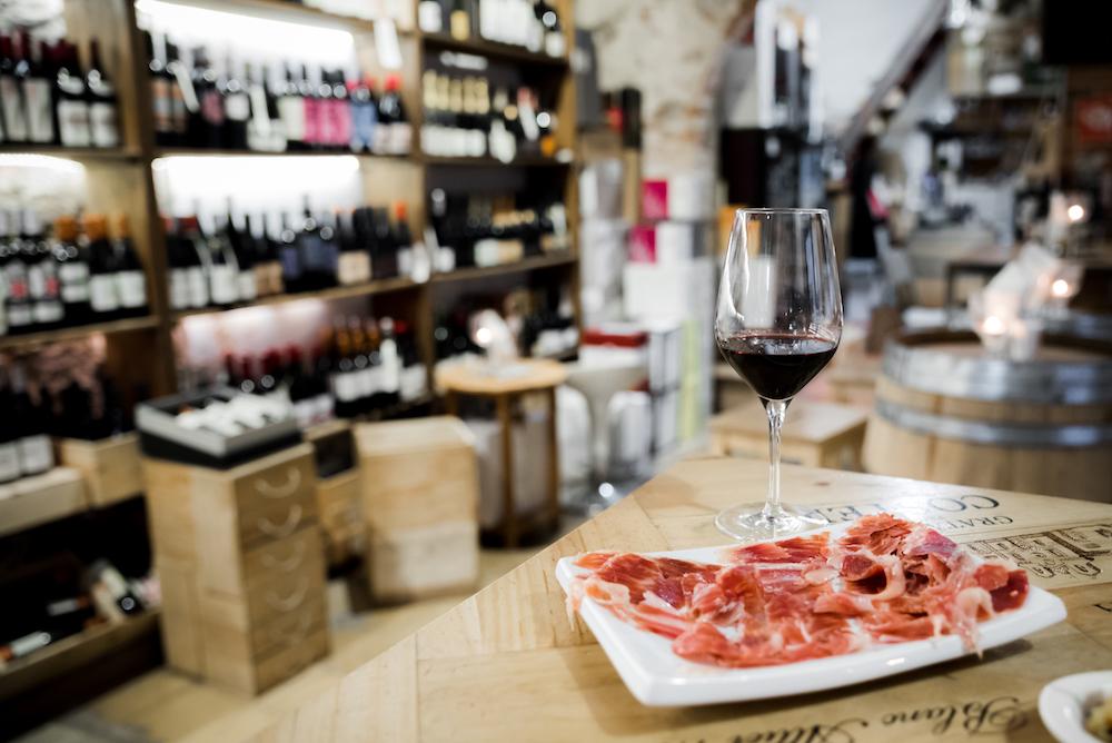 Bodega Maestrazgo Wine Shop and Bar in Born (Old Town), Barcelona.