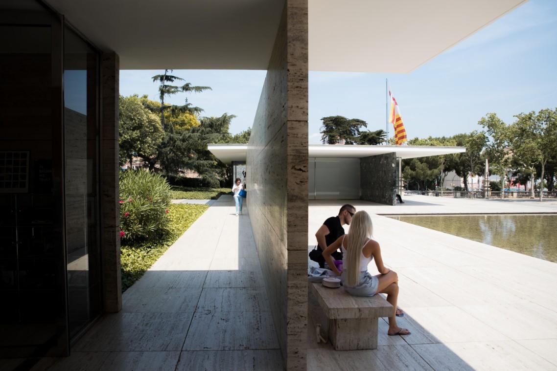 German Pavilion Barcelona - Modern architecture tour in Montjuic, Barcelona.