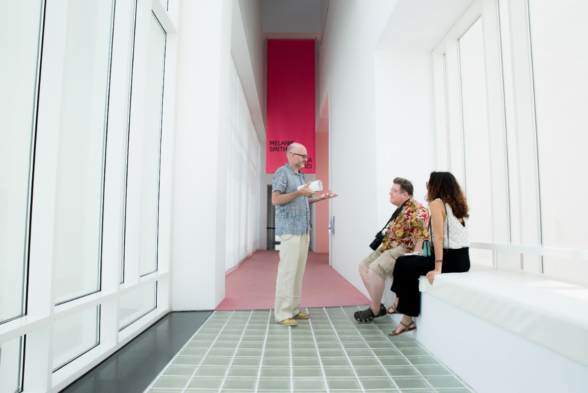 Exploring the MACBA contemporary art museum in Barcelona on FLC's Barcelona Architecture Tour - by Ben Holbrook