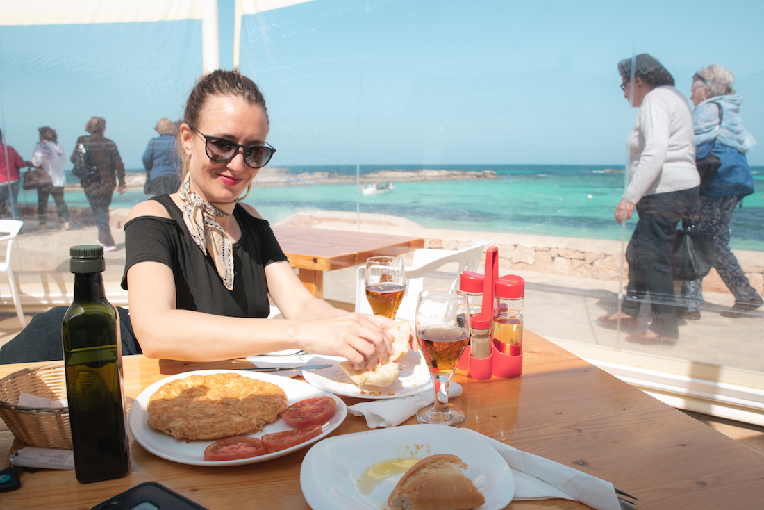 Tapas lunch at Sa Palmera in in Es Pujol, Formentera