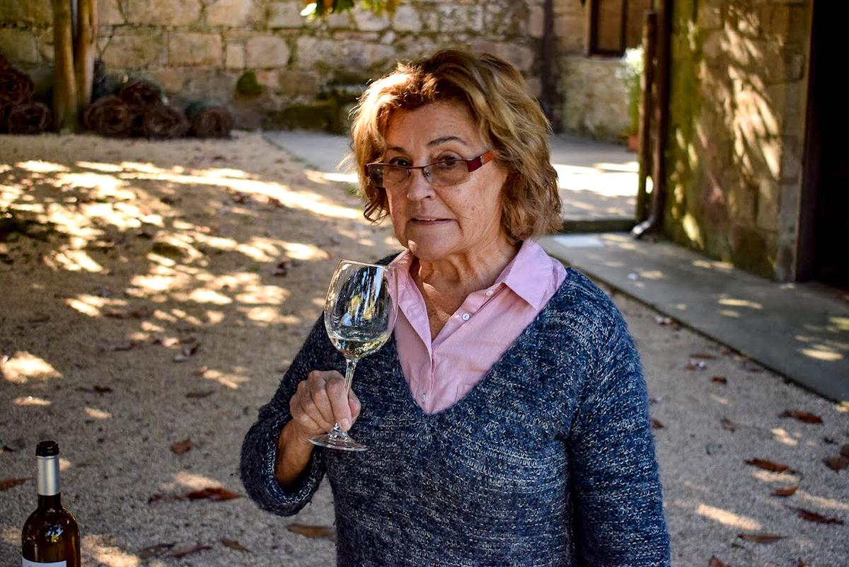 Drinking wine at Pazo de Fefiñanes, Cambados, Galicia, Northern Spain.