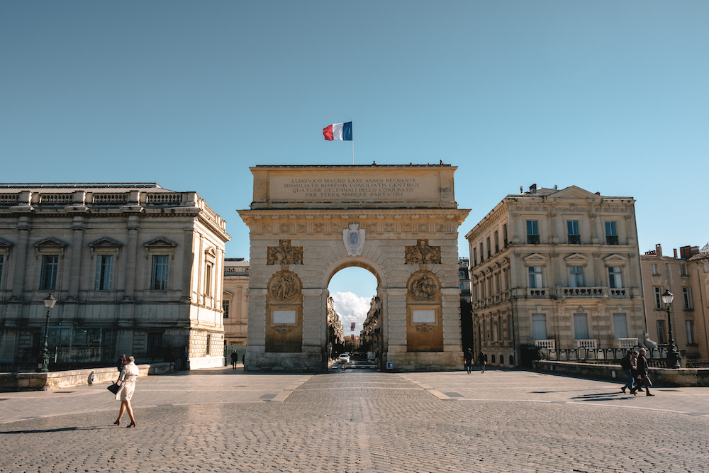 Montpellier's Porte du Peyrou / Arc de Triomphe, Southern France - by Ben Holbrook from DriftwoodJournals.com-2