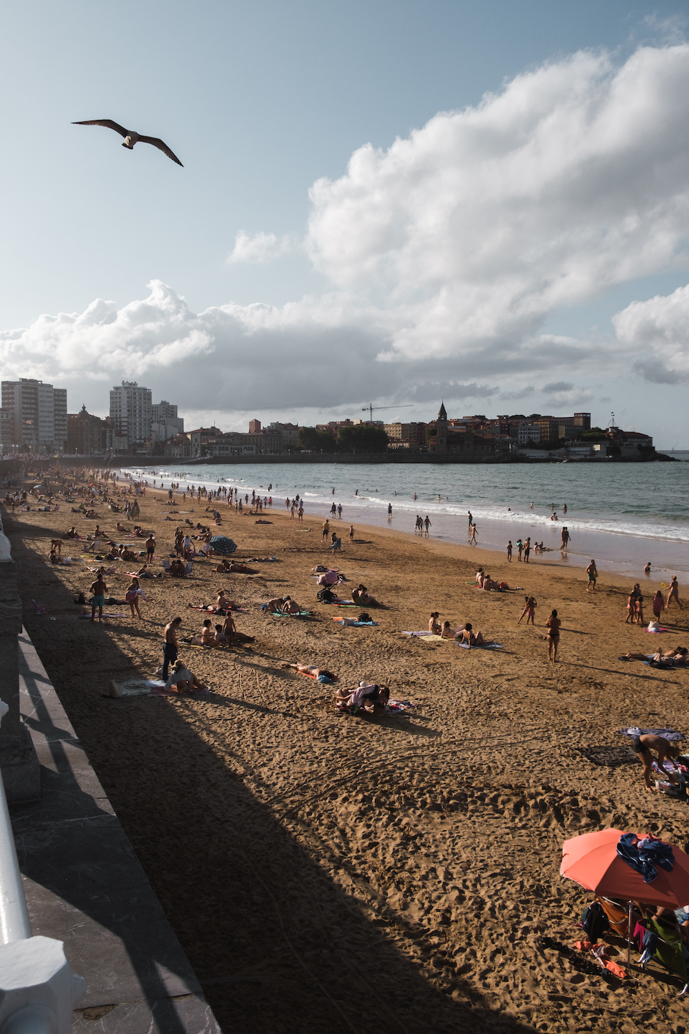 San Lorenzo Beach, Gijón, Asturias (northern Spain) by Ben Holbrook from DriftwoodJournals.com