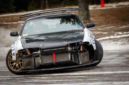 Lars Hoff kom med sin brutala driftbil. Foto: Henrik Andersson