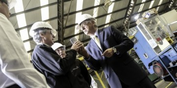 MINISTER OF FINANCE VISITS DRILLCO