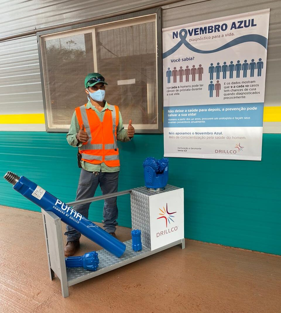 """Drillco Brazil launches the """"Blue November"""" Health Campaign together with Iron Ore mines Carajás, Salobo, Serra Azul and Sossego."""