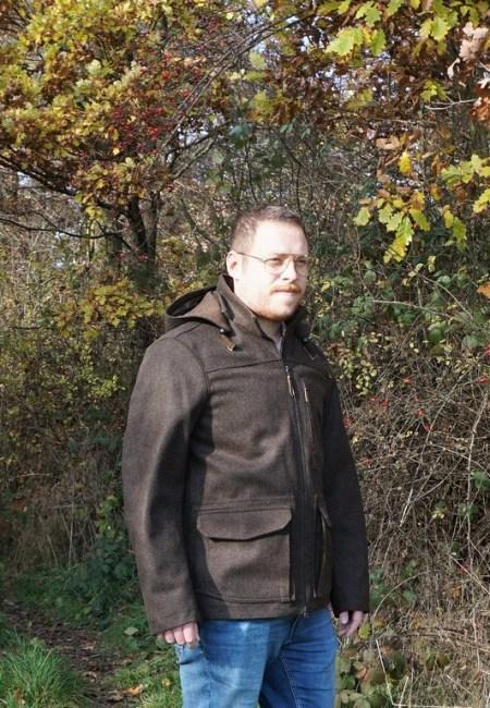 Drilling Jagd- & Outdoorbekleidung Herren Lodenjacke Waldgeist Jagd Merino schwarzbraun