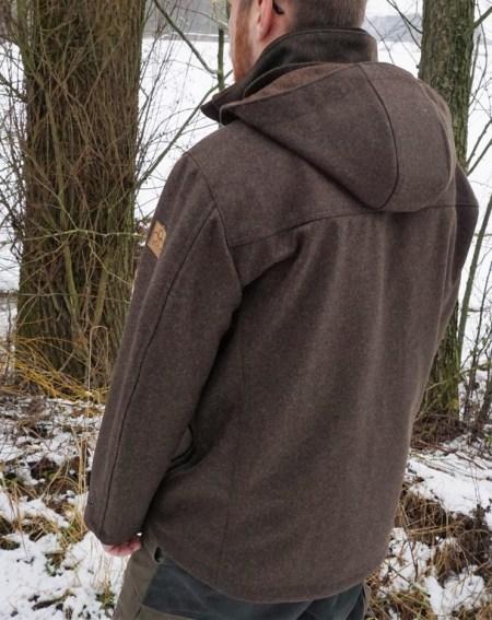 Herren Lodenjacke Waldgeist Jagd Hirschleder schwarzbraun