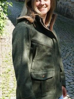 Damen Lodenparka Aurora Outdoor Steingrün