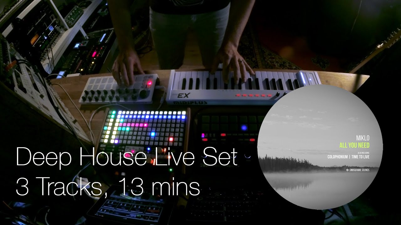 Deep House Hardware Live Session – Performing 3 Tracks from my new EP on Crossfade Sounds