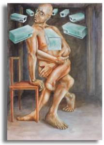 At Odds - prison artwork by Steel doors
