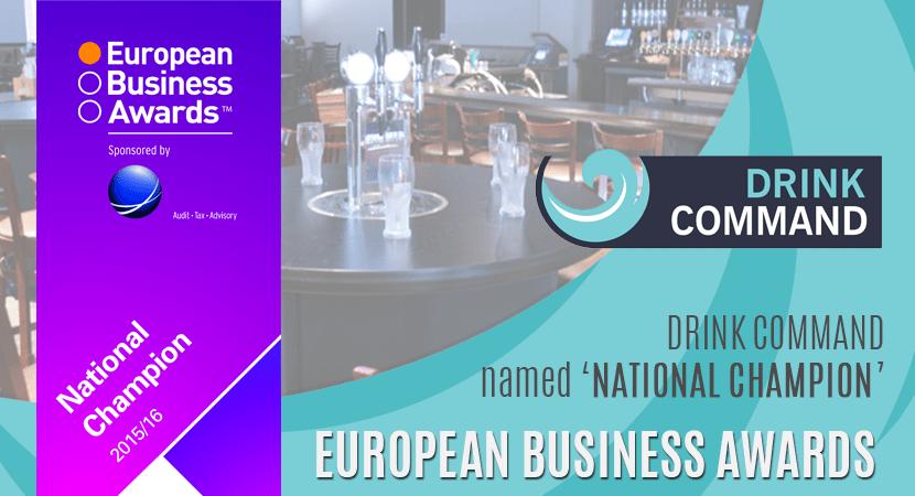 Blog post header Drink Command named National Champion at European Business Awards