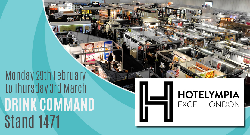 Blog post header Drink Command showcase at Hotelympia Excel London