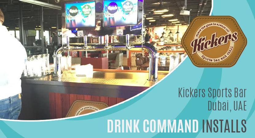 Blog post header drink command installs kickers sports bar, Dubai, UAE