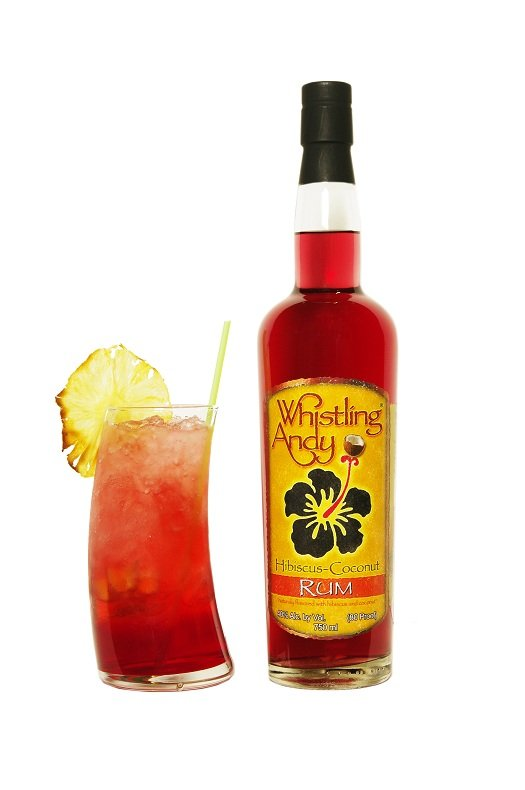 whistling andy hibiscus-coconut rum