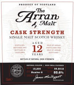 Arran 12 years old Cask Strength