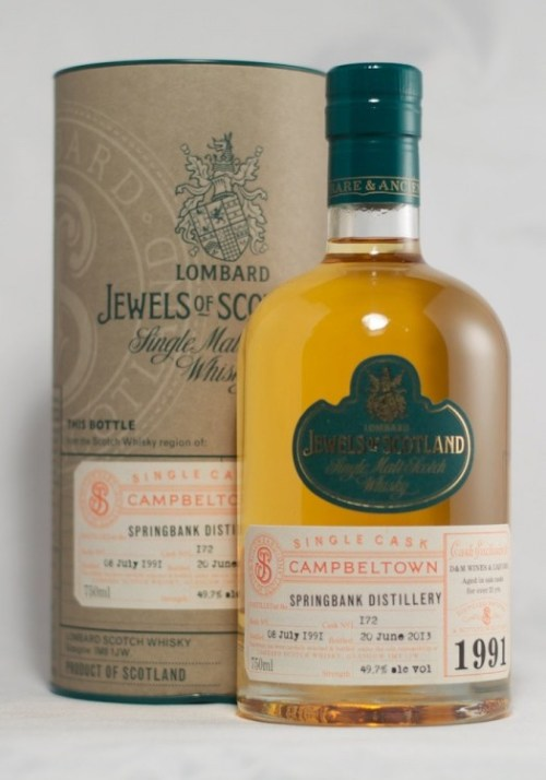 Springbank 21 Year Old Lombard Jewels of Scotland Bottling Single Malt Scotch