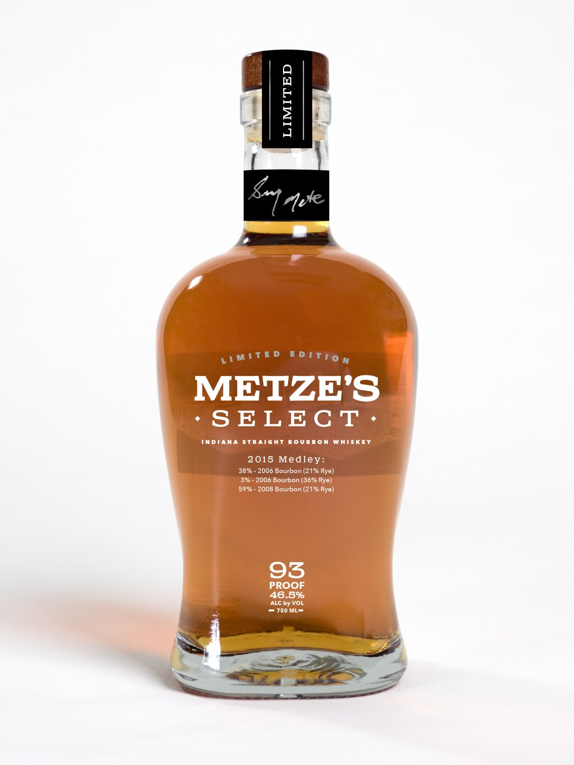 Metze's Select Indiana Straight Bourbon Whiskey