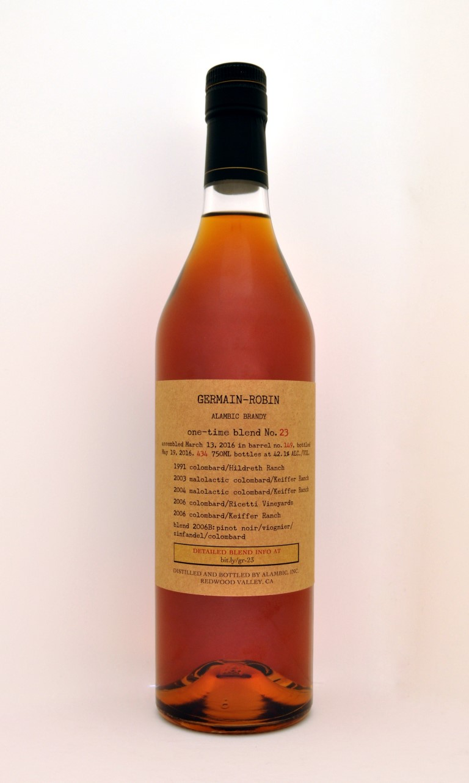 Germain-Robin Alembic Brandy One-Time Blend No. 23